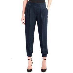 GAP Blue Pleated Crepe Refined Jogger